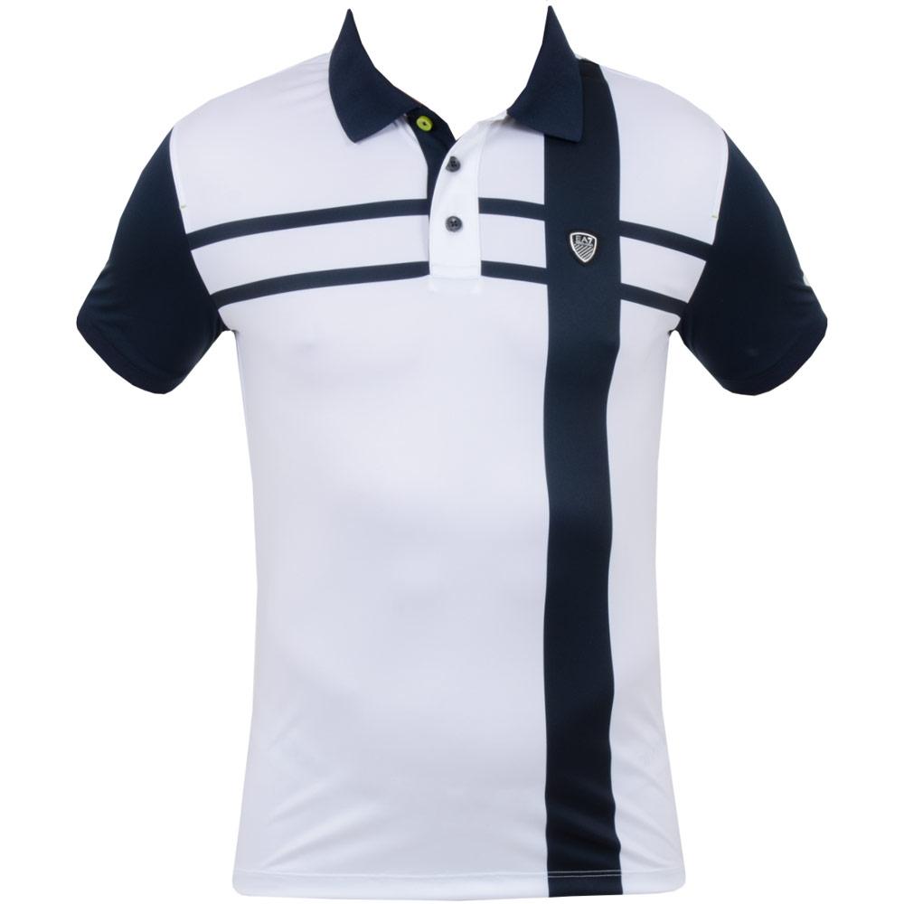 Armani EA7 Poly Lightweight Ventus Golf Polo White - SS15