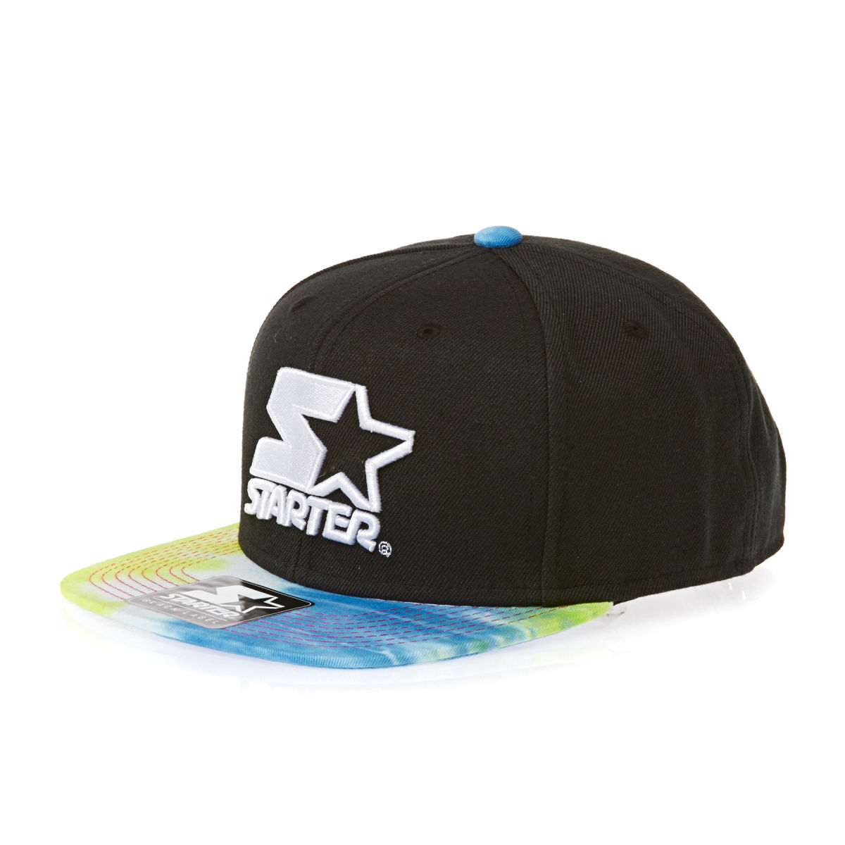 starter-caps-starter-hippy-visor-2tone-cap-black-and-multi