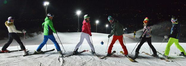 Bormio ski di notte 2017