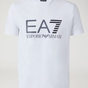 EA7 | T-Shirt In Jersey Di Cotone Stretch bianca-2492