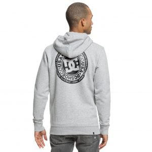 DC SHOES - Circle Star - Felpa con cappuccio e zip (GRIGIA)-2651