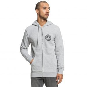 DC SHOES - Circle Star - Felpa con cappuccio e zip (GRIGIA)-0