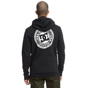 DC SHOES - Circle Star - Felpa con cappuccio e zip da Uomo (NERA)-2654