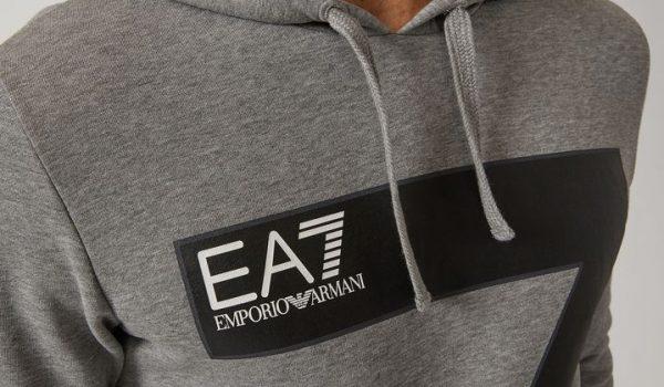 EA7 Felpa con cappuccio e stampa con logo EA7-2560