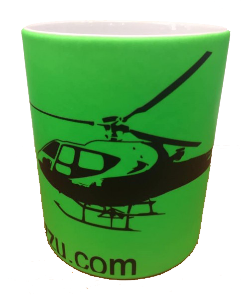 Tazza elicottero b2 350 colore verde .-0