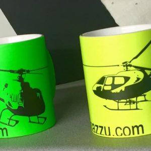 Tazza elicottero b2 350 colore verde .-2603