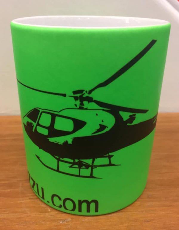 Tazza elicottero b2 350 colore verde .-2610