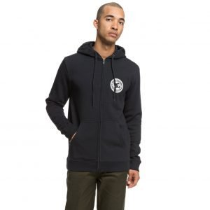 DC SHOES - Circle Star - Felpa con cappuccio e zip da Uomo (NERA)-0
