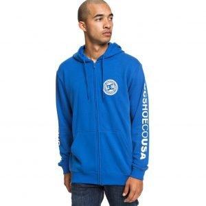 dcshoes -Circle Star - Felpa con cappuccio e zip ( azzurra )-0